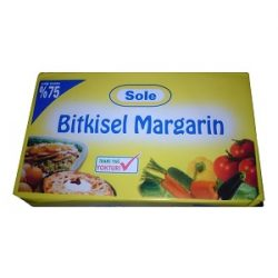 Sole Bitkisel Margarin İçindekiler, Kalori, Besin Öğeleri