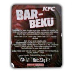 KFC Barbekü Sos İçindekiler