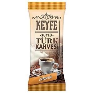 Keyfe Hazır Türk Kahvesi Sütlü ve Şekersiz
