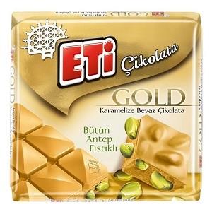 Eti Gold Antep Fıstıklı Karamelize Beyaz Çikolata